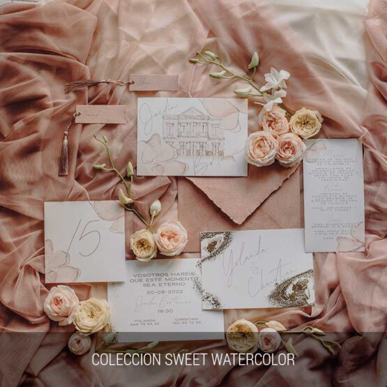 Coleccion Sweet Watercolor, detalles de boda unicos