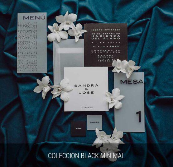 Coleccion detalles de boda, Black Minimal