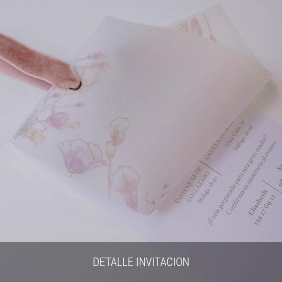Detalle invitación Sweet Garden
