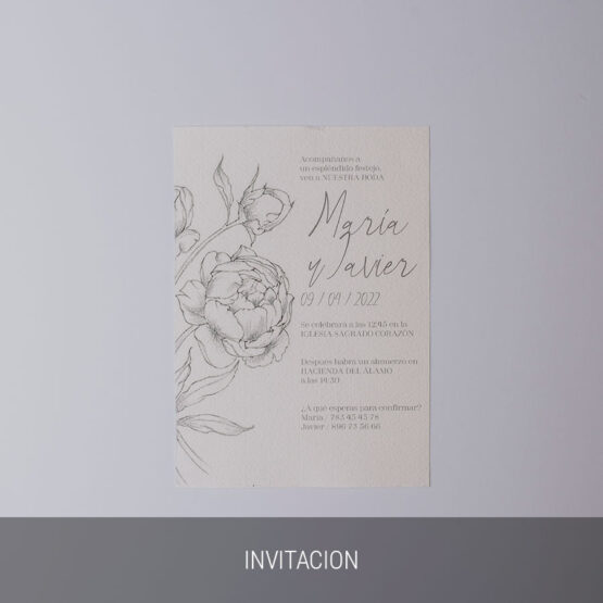 Detalle invitacion old romanticism