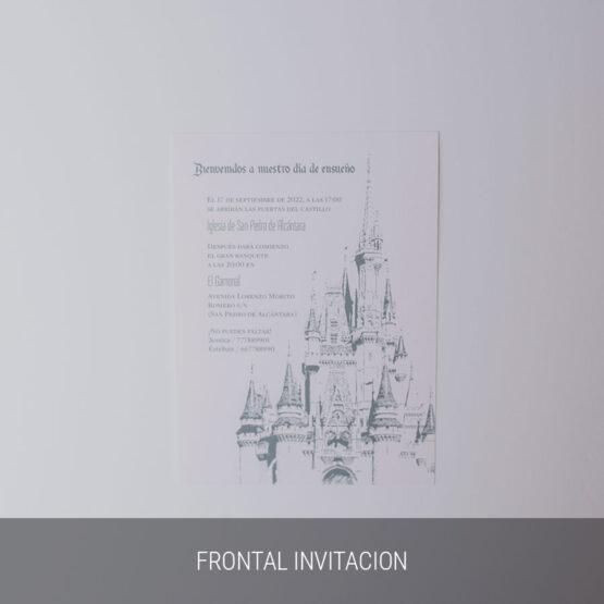 Frontal invitación Weddingland