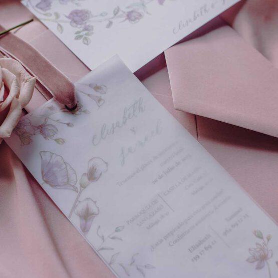 Invitacion boda colección Sweet Garden, detalle del producto