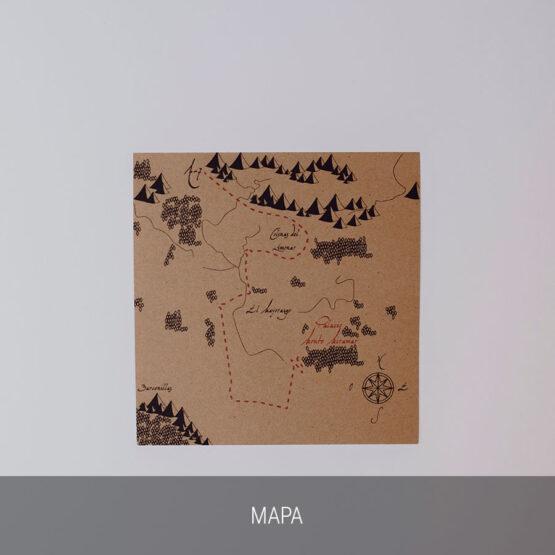 Mapa invitación Tierra Media