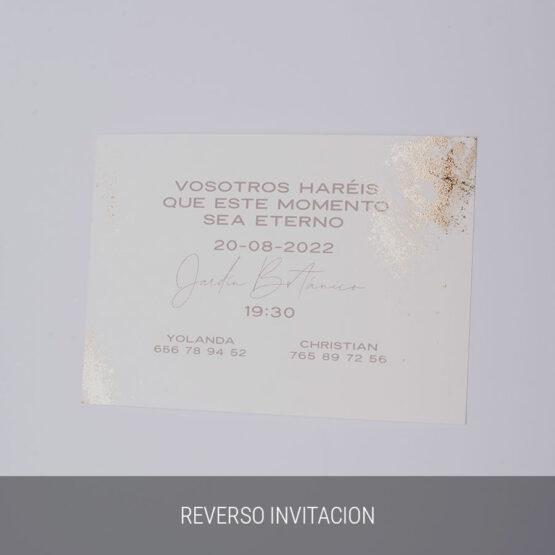 Reverso invitación sweet watercolor