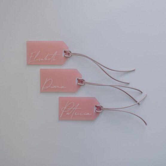 Marcasitio metacrilato rosa personalizado