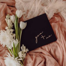 Album de boda negro en polipiel