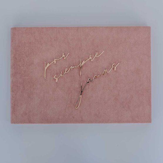 Album terciopelo rosa bodas, detalle