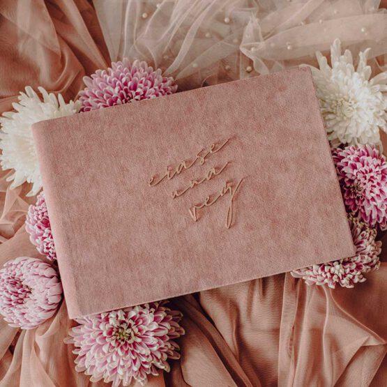 Album terciopelo rosa bodas, erase una vez