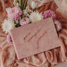 Album terciopelo rosa bodas, por siempre jamas