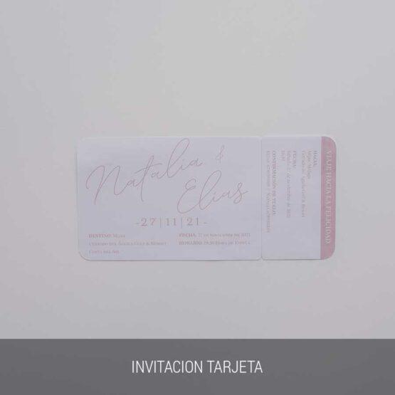 Invitación de boda viajera, tarjeta boarding pass