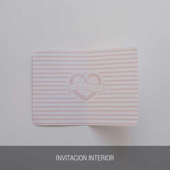 Invitación de boda viajera, interior de la invitacion
