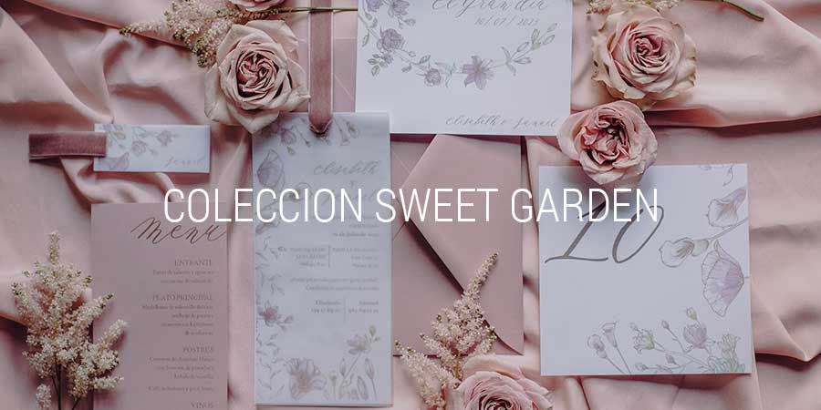 Colecciones para bodas exclusivas, Sweet Garden